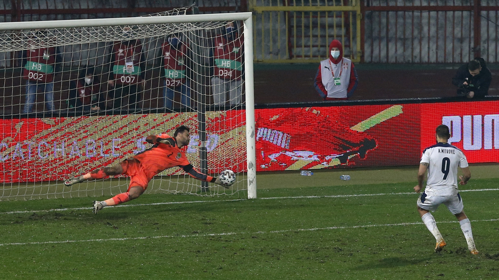 Image - David Marshall saves from Aleksander Mitrovic
