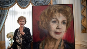 Edna O'Brien sat for the painting at her home last September
