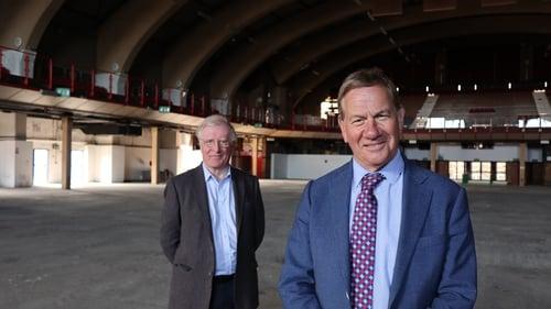 Michael Portillo and Michael Laffan in Kings Hall Belfast