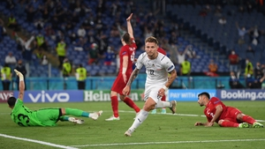 Ciro Immobile turns away after scoring Italy's second