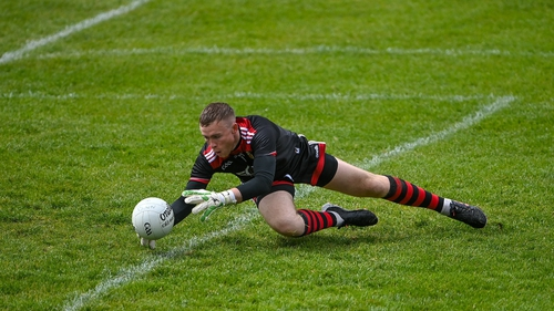 Down goalkeeper Rory Burns continually frustrated Laois