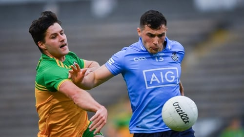 Dublin's Colm Basquel in action against Donegal's Brendan McCole