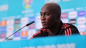 Lukaku speaks to the media at the post-match press conference