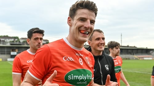 Niall Grimley is all smiles after Armagh secured their top-flight status