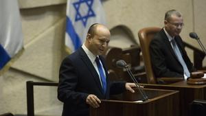 Naftali Bennett, the leader of the new coalition government
