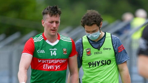 Cillian O'Connor was replaced just before the break at Cusack Park