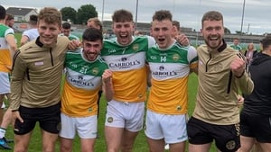 Offaly players celebrate following their victory over Fermanagh (Pic Edenderry GAA)