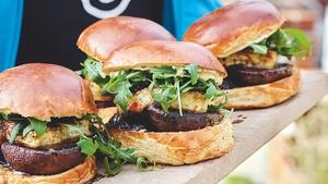 Tom Kerridge's umami mushroom and halloumi burger.