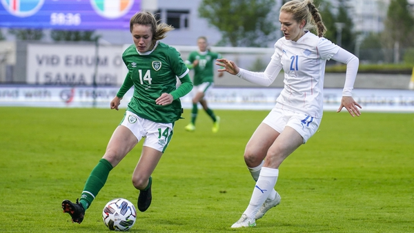 Heather Payne scored her first international goal in Ireland's 3-2 loss on Friday