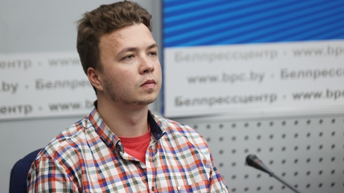 Roman Protasevich appeared at a press conference today