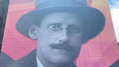 The mural is part of a broader initiative to raise awareness of the University at Buffalo's James Joyce Collection
