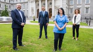 John Florence, CEO of Irish HomeCare; Tánaiste Leo Varadkar; Roslyn Lynam, a carer at Irish HomeCare and Gillian Roddy, Director of National Operations at Irish HomeCare