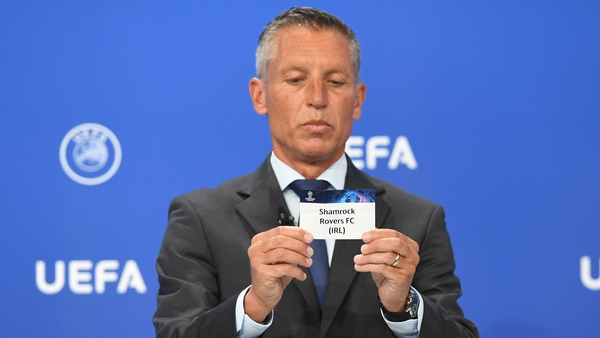 UEFA Head of Club Competitions Michael Heselschwerdt pulls out Shamrock Rovers