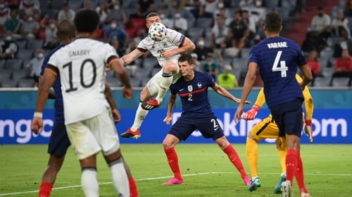 Benjamin Pavard took two heavy knocks to the head in France's win over Germany