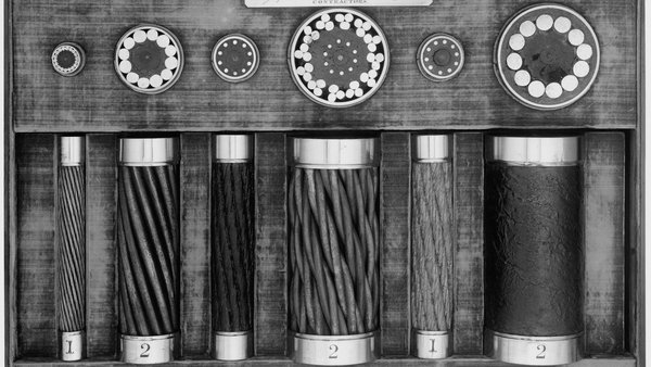 Sections of Atlantic cables and grapnel laid in the 1860s.Photo: Science & Society Picture Library/SSPL/Getty Images