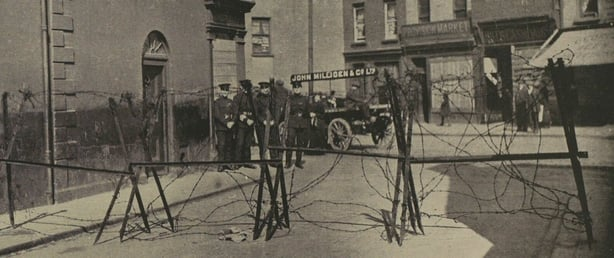 Scene in Belfast in September 1920 due to violence in the city Photo: Illustrated London News [London, England], 4 July 1920