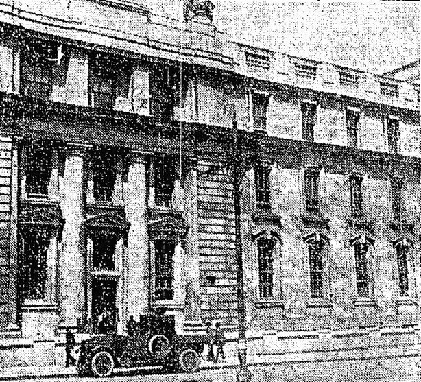Century Ireland Issue 207 - The Council Chamber of the Department of Agriculture and Technical Instruction on Upper Merrion Street in Dublin where the parliament met. Photo: Irish Independent, 28 June 1921