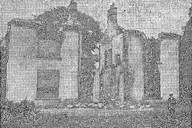The ruins of Brackley House, Co. Cavan, where James Finlay was killed Photo: Irish Independent, 16 June 1921