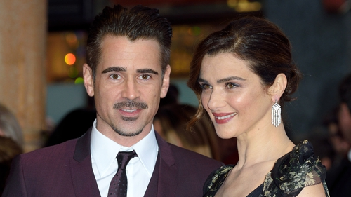 Colin Farrell and Rachel Weisz at a screening of The Lobster at the London Film Festival in October 2015