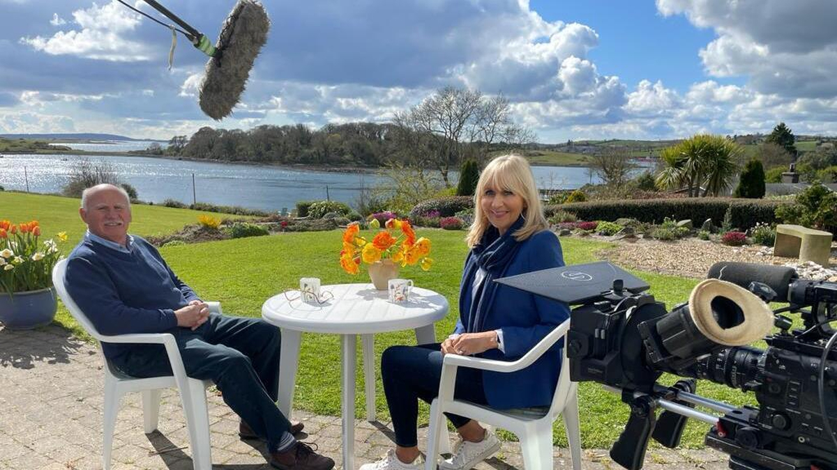 Miriam O'Callaghan during the making of the new documentary, meeting Billy Kohner