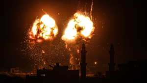 Israel launched a series of airstrikes on Gaza