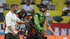 A 38-year-old German activist parachuted into the stadium before kick-off of the Germany-France Euro 2020 match last night