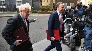 Boris Johnson with Health Secretary Matt Hancock at Downing Street (File pic)