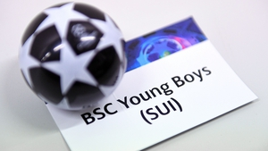 A view of the BSC Young Boys card during the UEFA Champions League 2021-22 second qualifying round draw