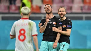 Arnautovic immediately after his goal