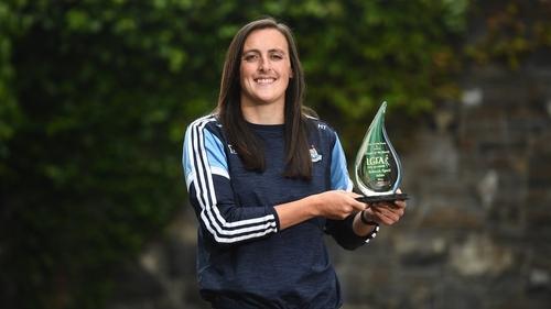 Hannah Tyrrell with her award