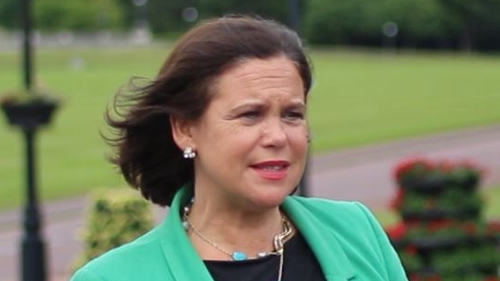Mary Lou McDonald at Stormont yesterday