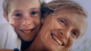 Sophie Toscan du Plantier and her son, Pierre-Louis