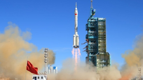 The Shenzhou-12 spacecraft was launched from Jiuquan early today