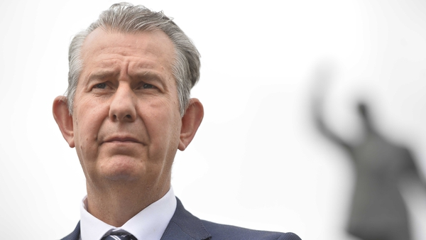Edwin Poots, who succeeded the ousted Arlene Foster last month, faced questions about his own leadership