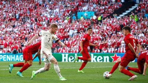 Belgium came back from one goal down to defeat an impressive Danish side in Copenhagen