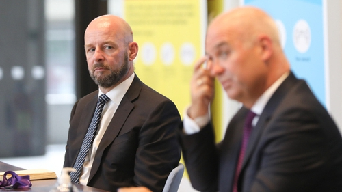 Prof Philip and Chief Medical Officer Dr Tony Holohan (Pic: RollingNews.ie)