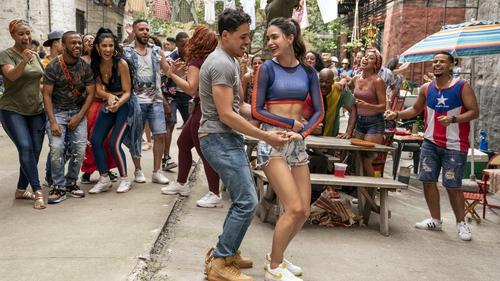 Anthony Ramos and Melissa Barrera in the all-dancing, all-singing In The Heights