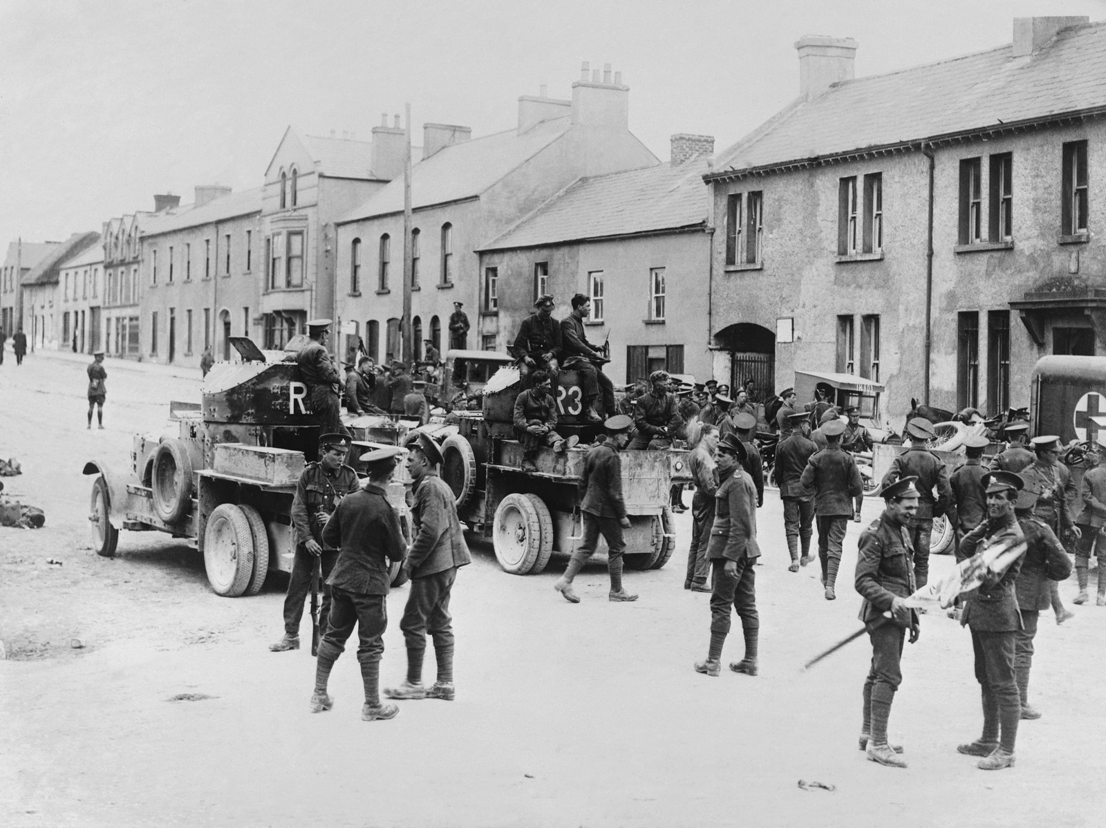 Image - British soldiers in Belleek, Co Fermanagh, in June 1922. Photo: Getty Images
