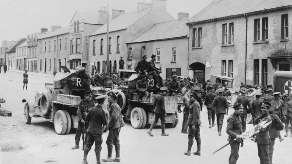 Soldiers on the streets of Belleek in 1921