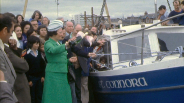 Launch of St Connora at Limerick Docks, 1976