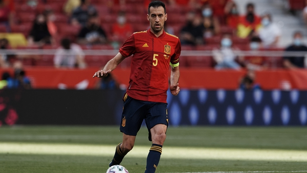 Busquets missed the goalless draw with Sweden