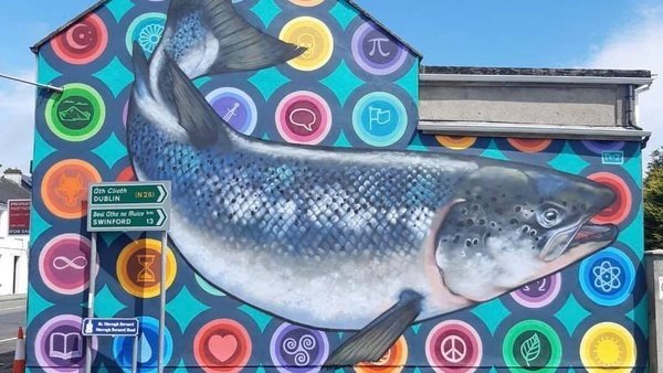 The murals are inspired by local folklore and have a cultural significance in the area
