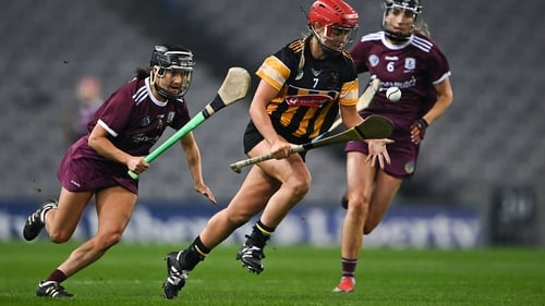 Galway's Aoife Donohue pursues Grace Walsh in last year's All-Ireland final