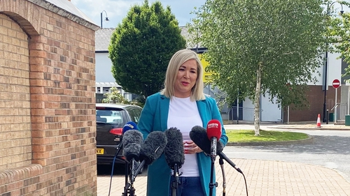 'I hope that the DUP deal with their internal matters quickly so we can get back to the business of sharing power,' Michelle O'Neill said