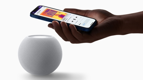 The HomePod mini has proximity sensors that makes it easy to control from your iPhone