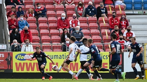 St Patrick's Athletic supporters watch on at Richmond Park