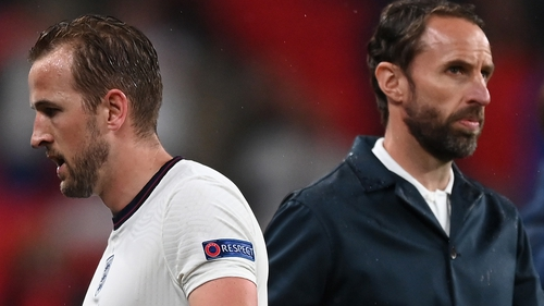 Gareth Southgate replaced England captain Harry Kane with 16 minutes remaining