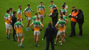 John Maughan talks to his charges during their LSFC match with Carlow last year