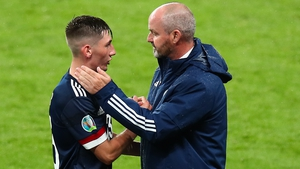 Steve Clarke was delighted with Billy Gilmour's performance against England