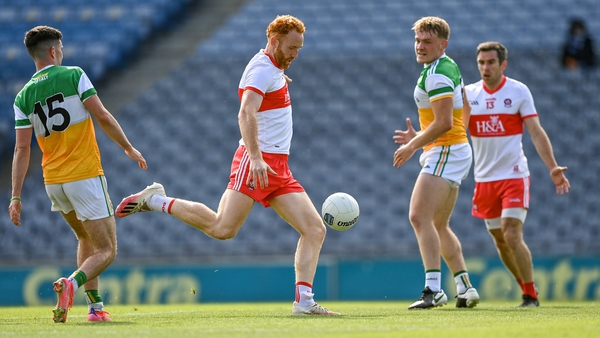 Conor Glass was dominant around the middle for Derry